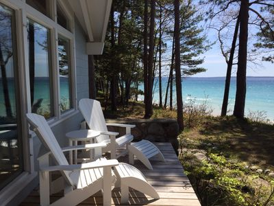 Photo for Beachfront Cottage on Lake Michigan in Harbor Springs