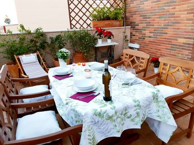 Photo for Enjoy sunny terrace just for you. Remarkable apartment (WiFi, Smart TV, Parking,