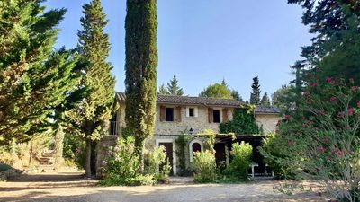 Photo for Cotignac. Pretty stone cottage in 2 acres. Totally private heated pool, min 25°C