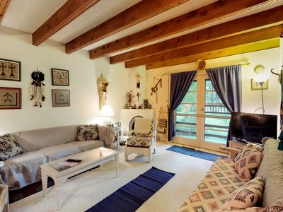 Photo for NEW LISTING! Ccondo w/patio & fireplace in heart of Taos - walk everywhere