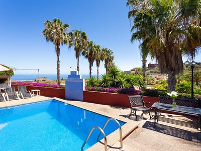 Photo for Beautiful Holiday Apartment Las Flores with Sea View, Mountain View, Wi-Fi, Whirlpool, Garden, Terrace & Pool; Parking Available, Pets Allowed