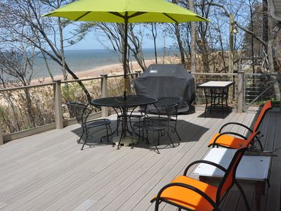 Photo for Lake Michigan Home, on the Water, Just 25 Steps to the Beach! Well kept property