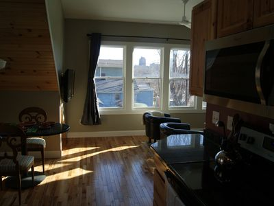 Photo for Sunny, brand new guest house, 11 foot ceilings, walkable to downtown Asheville