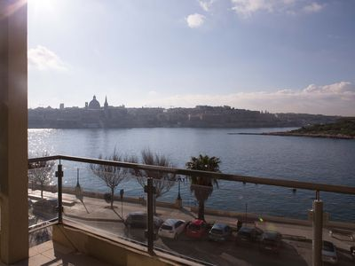 Photo for Outstanding Designer Sliema Seafront apartment, 3 bedroom, sleeps 6, seaside