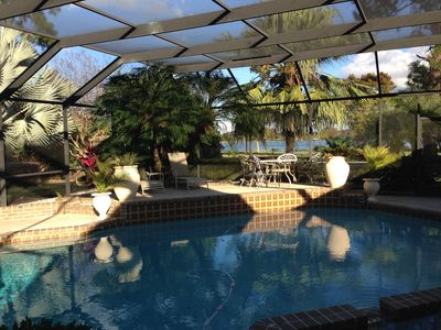 Photo for Lakeview 3 BR Villa with large private pool nestled into Florida's nature