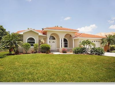 Photo for The Villa Malibu with pool and boat dock located on a canal in Cape Coral