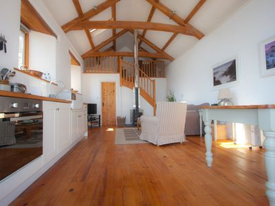 Photo for Cosy open-plan barn conversion for two.