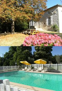 Photo for Cottage Lapeyrotte with pool and 16 beds in Pays de Serres-Quercy