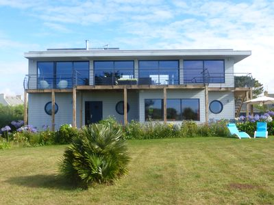 Photo for Gîte - Self Catering LA MAISON BOAT (30m from the sea) Sauna, Spa, shower Steam bath, Kayaking