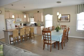 Dining Room and fully equipped Kitchen with island.