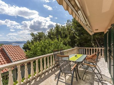 Photo for Four bedroom apartment with terrace and sea view Medići, Omiš (A-7461-a)