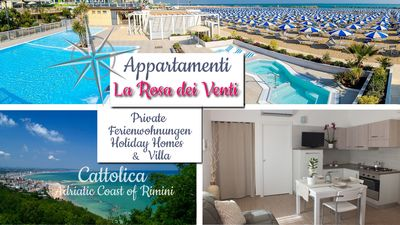 Photo for La Rosa dei Venti Apartments *** in Cattolica Beach (Adriatic Coast of Rimini)