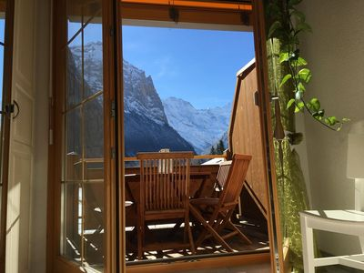 Photo for A beautiful penthouse apartment with uninterrupted views of Lauterbrunnen valley