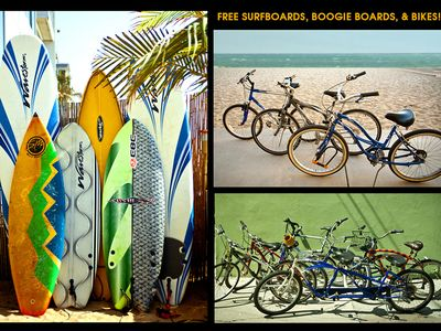 Photo for NAUTICAL BAMBOO BEACH DEN - Steps to sand FREE PARKING, BIKES, SURFBOARDS & more