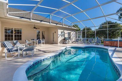 South Facing Pool. Not Overlooked. Hot Tub. Abundance of Cushioned Furniture