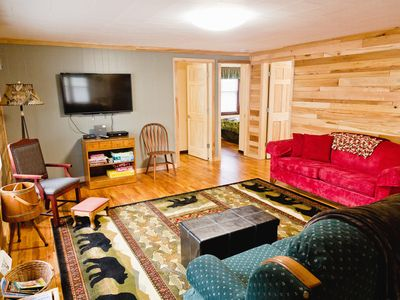 Photo for Cottage On River - close to  Torch Lake, sleeps 8, bonfires, grilling, boating