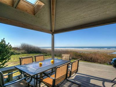 Photo for Beautiful Oceanfront Home with Beach access, Pet Friendly & Ping Pong Table!