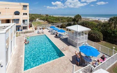 Photo for Beautiful Ocean Front Resort On Cocoa Beach with 700' private beach Corner Unit