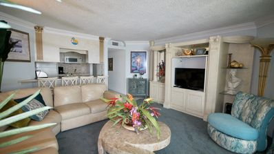 Living area with flat screen tv, DVD