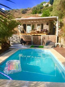 Photo for Stunning 1 Bedroom Cabin with Private Pool and BBQ Perfect for Couples