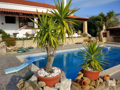Photo for Rustic 3 bedroom villa with a south facing terrace, pool and exceptional views