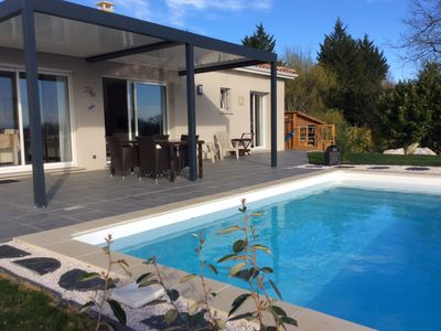 Photo for Contemporary house near Toulouse without vis-à-vis with views Pyrenees