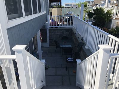 New Stonework,Patio and Entry to the Apartment