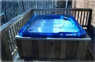 Private, state of the art,  five person hot tub on back deck.