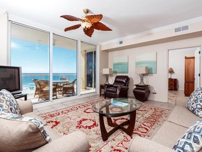 Photo for Gorgeous 4th Floor Condo! Sleeps 7, Gulf Front, Pool, Grill, Large Balcony!