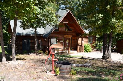 Amazing Wood Log Cabin Pvt Hot Tub In Woods Wifi Fireplace Camp Budd Near Big Cedar Branson Cedars