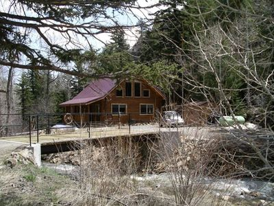 Photo for Arapaho Cliffs Log Cabin on Chicago Creek