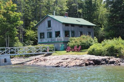 View of house from water with our private dock!