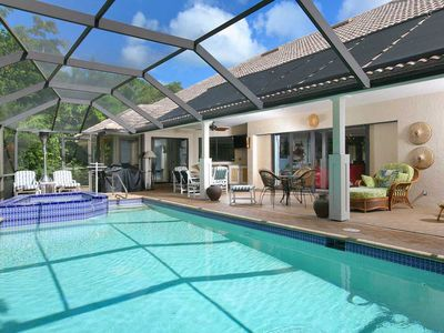 Covered Lanai with Heated Pool and Spa