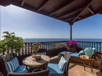 Photo for New apartment with panoramic view over the Atlantic ocean and Puerto de Mogan