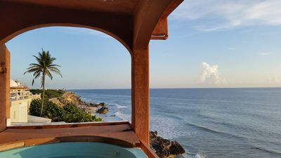 Photo for Affordable & Relaxing Ocean Front Villa w Jacuzzi & Amazing Views of Caribbean!