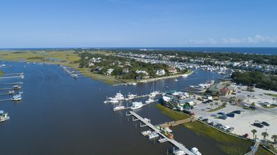 "Photo for ""Goat Island Cottage"" on the Isle of Palms Waterway in the no wake zone."