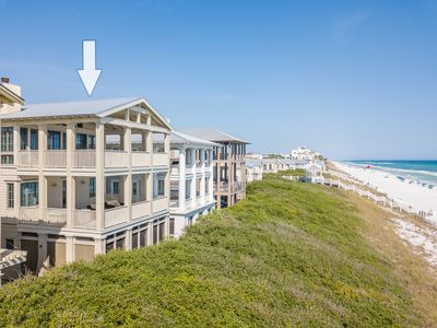 "Photo for Seaside Proper - ""Front Row"" Beach front w/ elevator! Hot tub on balcony!"