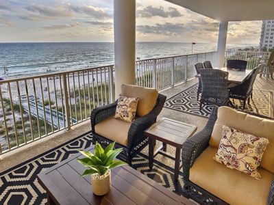 Photo for Renovated Gulf-front - Sleeps 14! Huge Balcony,  Corner unit, Reserved parking
