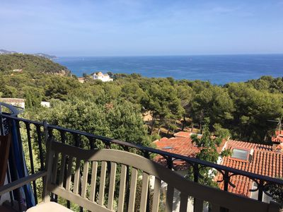 Photo for Santa Cristina, Blanes, Apartment in a family house with sea view 4 pers. (+1)