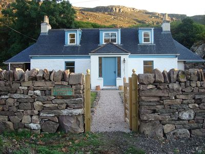 Photo for Charming White Painted Detached Croft With Sea & Mountain Views. Sunday changes