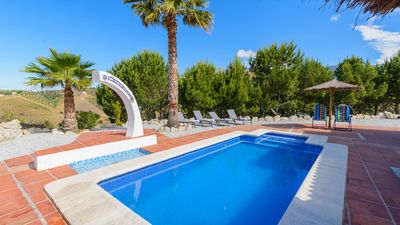 Photo for Modern holiday home all comfort with heated pool and impressive views