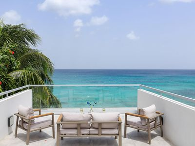 Photo for Contemporary 4 Bedroom Beachfront Villa, Penthouse Suite with Sea Views, Mirror Pool