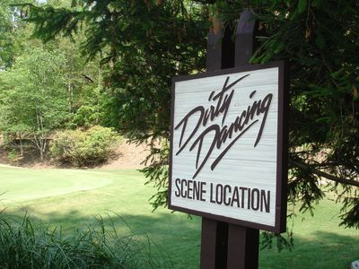 Log Home overlooks scene location from movie Dirty Dancing