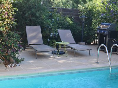 Photo for Charming house with swimming pool 4/5 p classified 3 *** at the foot of the village of BORMES