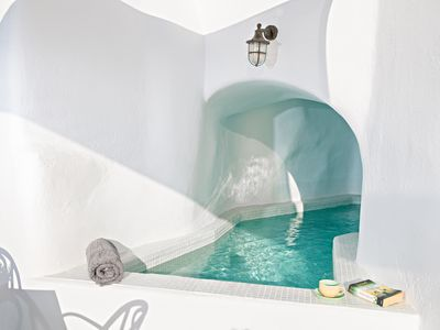 Photo for Cave style suite with mini heated pool and stunning view from the terrace