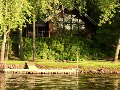 Photo for Beautiful cabin on the scenic Wisconsin River/Lake Wisconsin