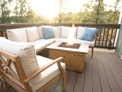 Photo for Luxury in the Pines - Star gaze by the fire + overlook endless Ponderosa Pines