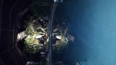 pool reflection at night