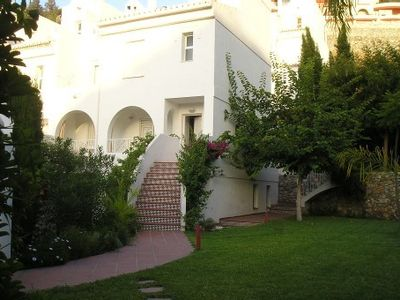 Photo for Villa with private tropical garden of 600 sqm.  Pool and tennis