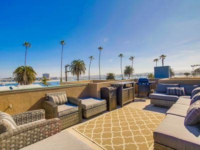 Photo for JUST DISCOUNTED! - MISSION BEACH - OCEAN & BAY VIEWS - ROOF TOP DECK - SLEEPS 10